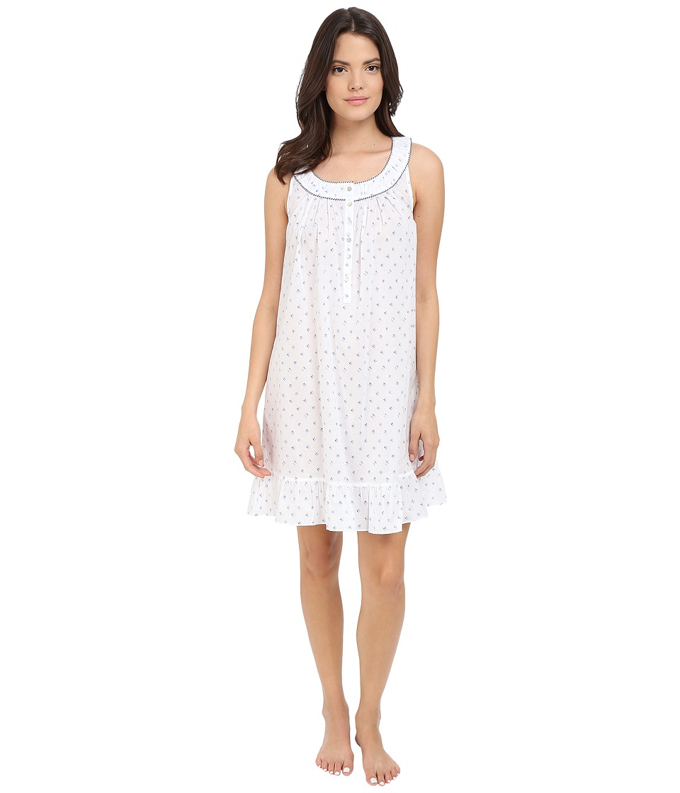 Eileen West - Short Chemise (White Ground Waves) Women's Pajama