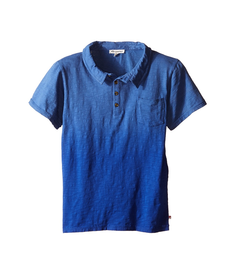 Appaman Kids - Super Soft Ombre Rebel Polo (Toddler/Little Kids/Big Kids) (Blue Depths) Boy's Short Sleeve Knit