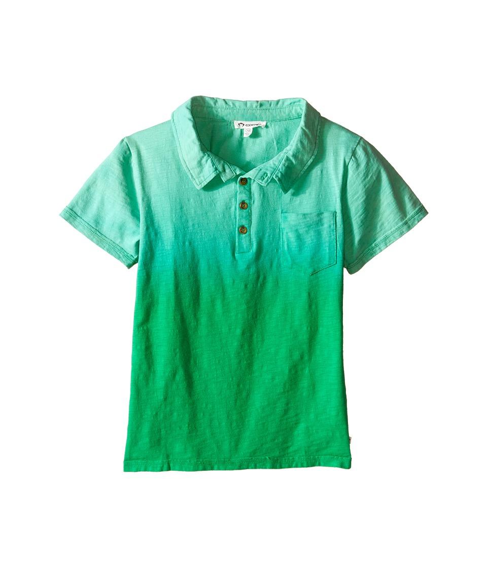 Appaman Kids - Super Soft Ombre Rebel Polo (Toddler/Little Kids/Big Kids) (Classic Green) Boy's Short Sleeve Knit