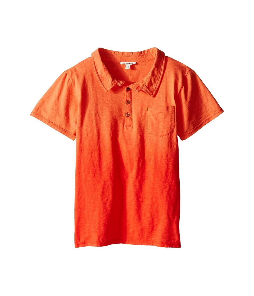 Appaman Kids - Super Soft Ombre Rebel Polo (Toddler/Little Kids/Big Kids) (Orange Soda) Boy's Short Sleeve Knit