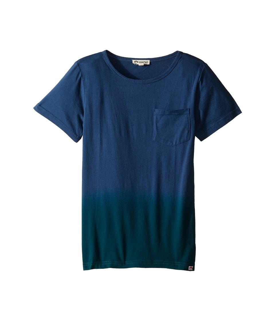 Appaman Kids - Super Soft Dip Dye Pocket Tee (Toddler/Little Kids/Big Kids) (Flint Stone) Boy's T Shirt