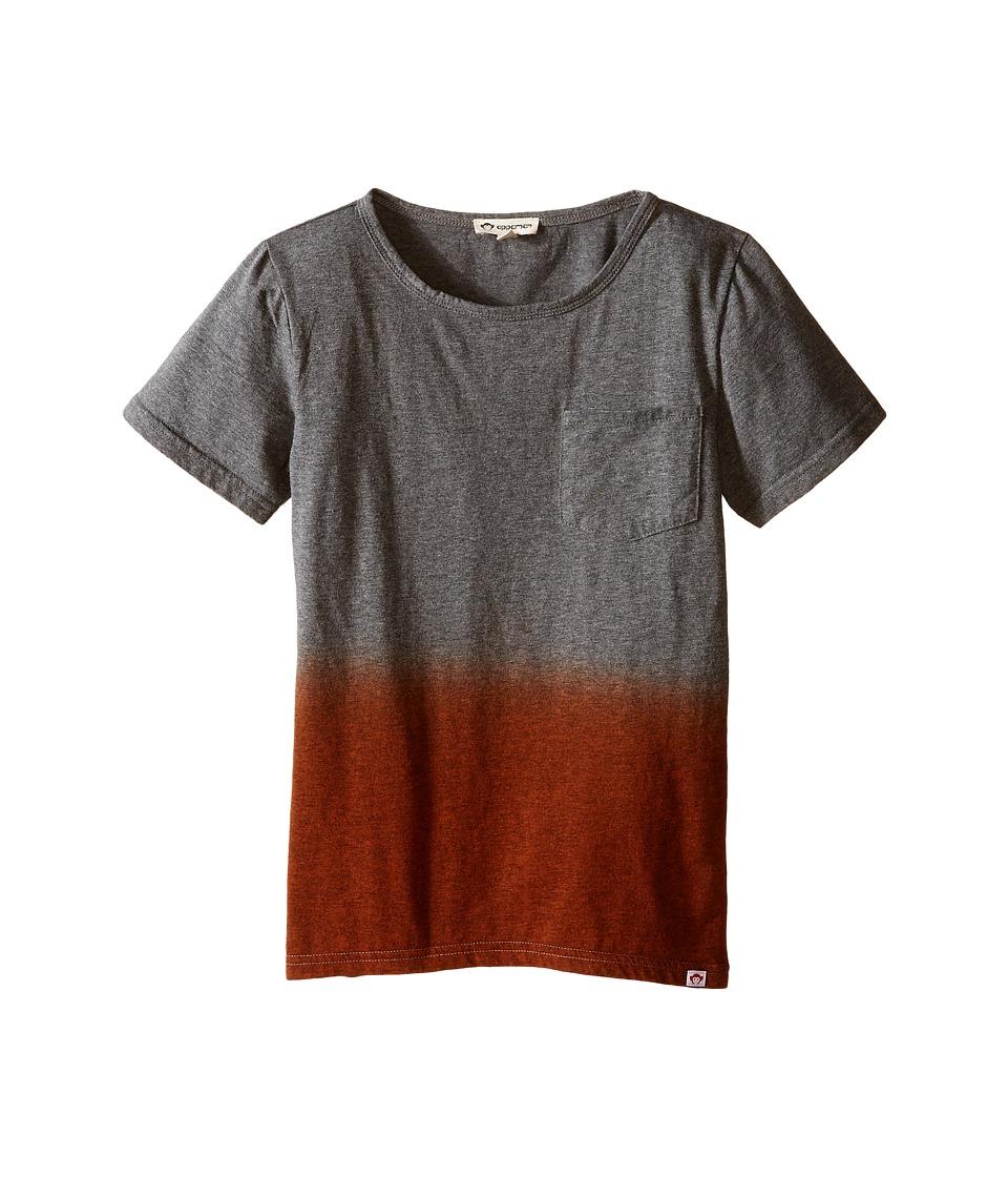 Appaman Kids - Super Soft Dip Dye Pocket Tee (Toddler/Little Kids/Big Kids) (Light Grey Heather) Boy's T Shirt