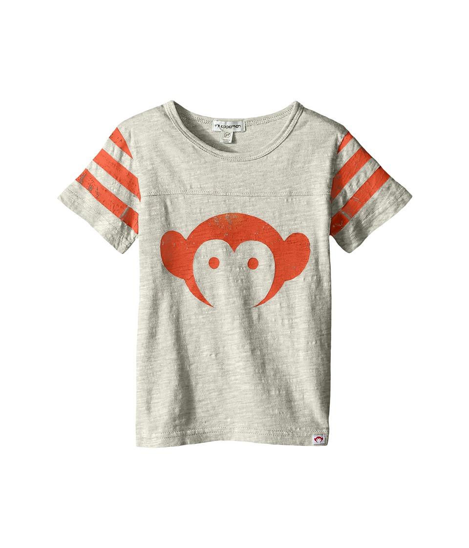 Appaman Kids - Super Soft Classic Appaman Monkey Tee (Toddler/Little Kids/Big Kids) (Cloud Heather) Boy's T Shirt