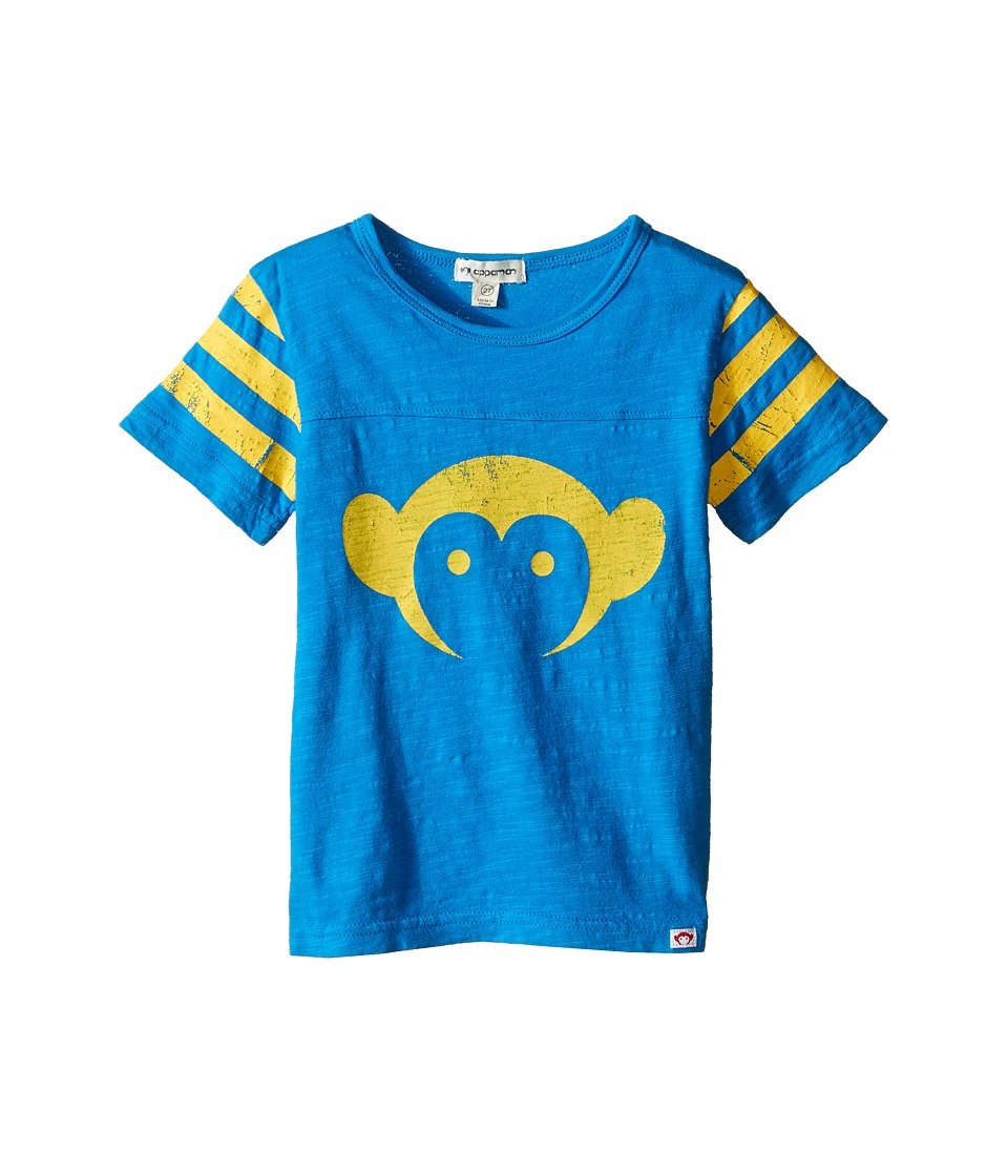 Appaman Kids - Super Soft Classic Appaman Monkey Tee (Toddler/Little Kids/Big Kids) (Methyl Blue) Boy's T Shirt