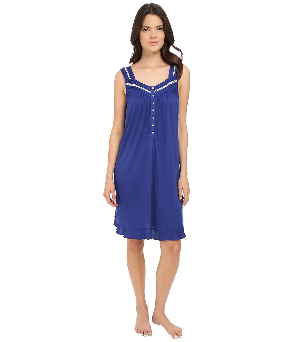 Eileen West - Short Chemise (Solid Navy) Women's Pajama plus size,  plus size fashion plus size appare