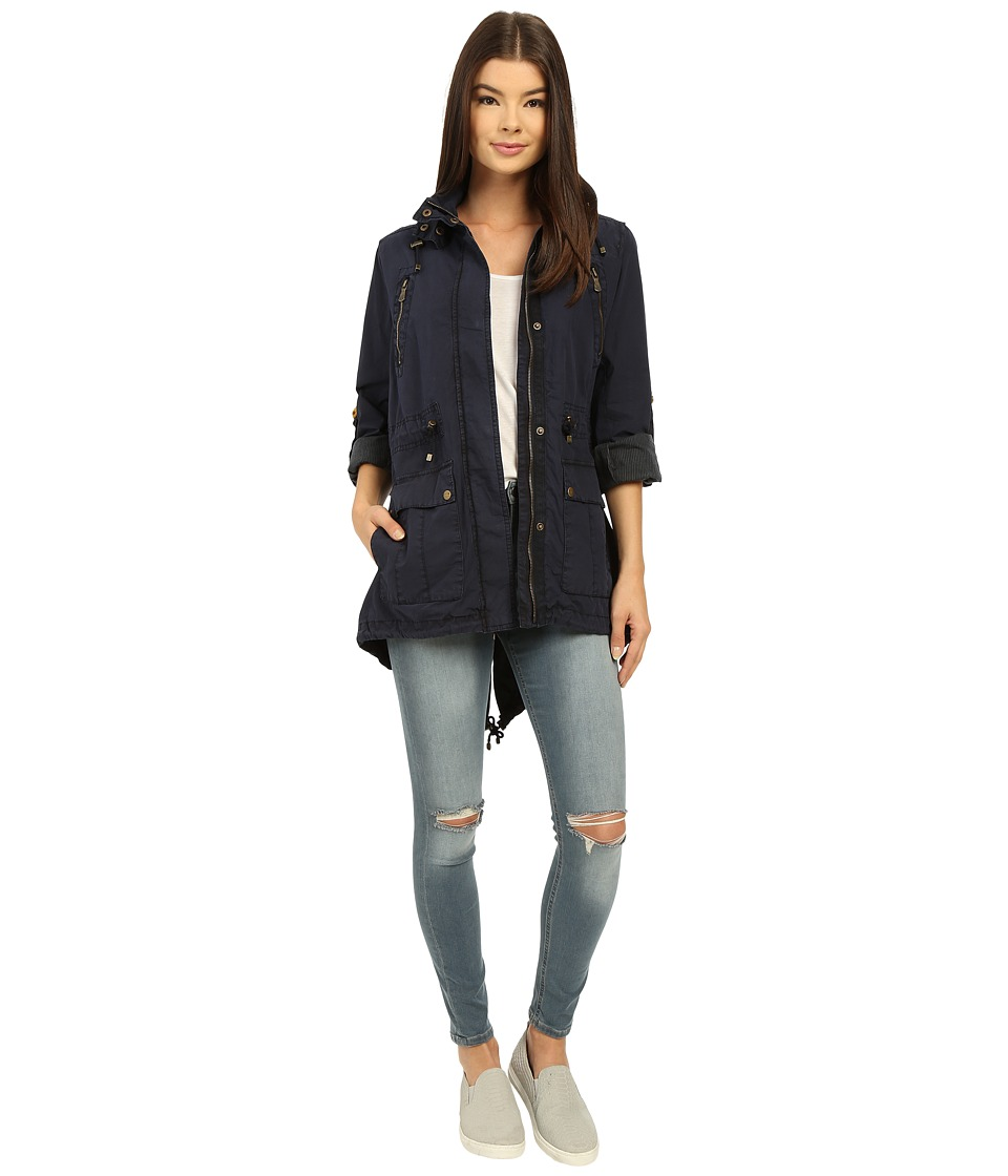 Levi's(r) - Fashion Light Weight Parka w/ Roll Up Sleeve (Navy) Women's Coat
