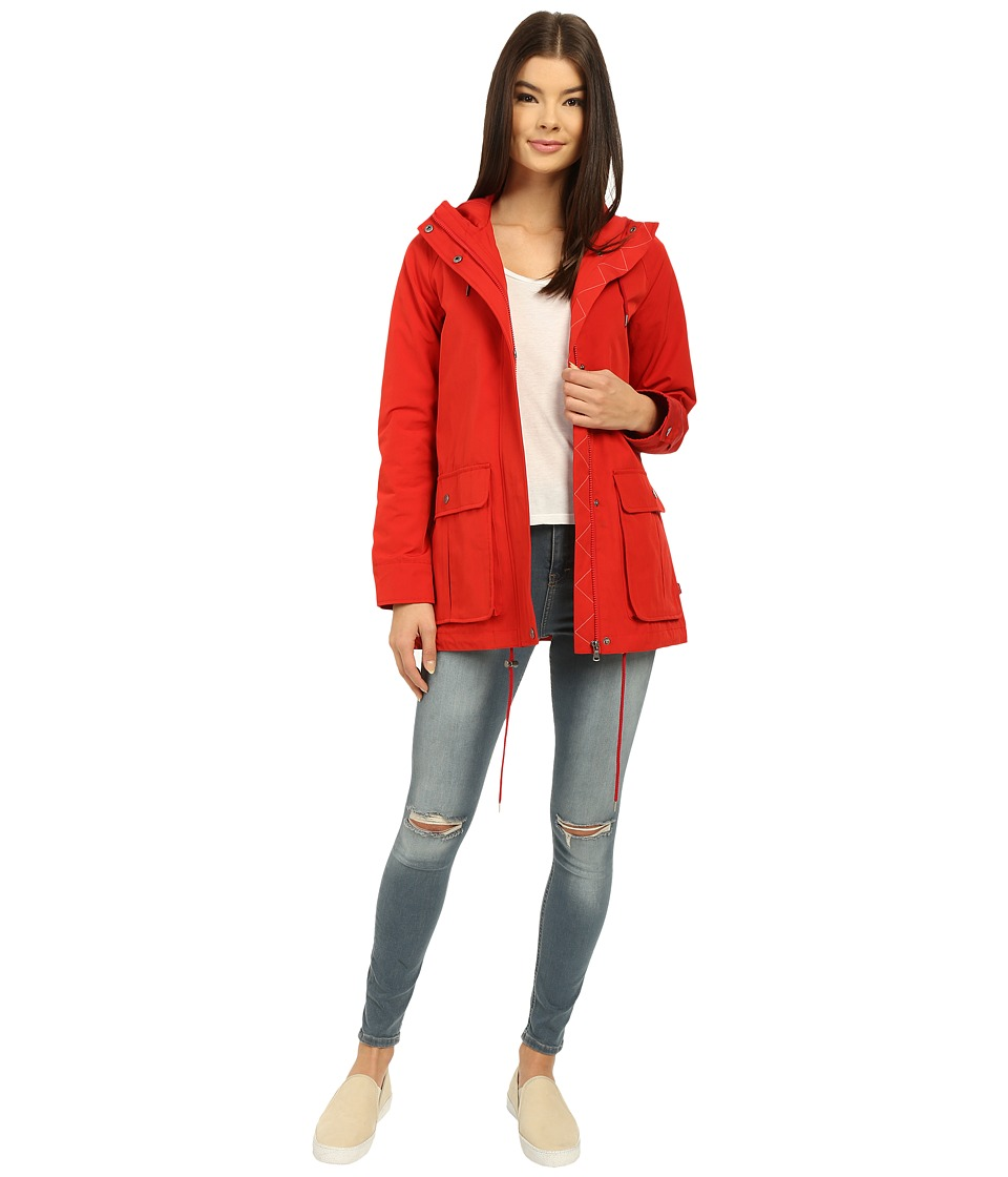 Levi's(r) - Hooded Swing Parka w/ Functional Rear Zipper (Red) Women's Coat