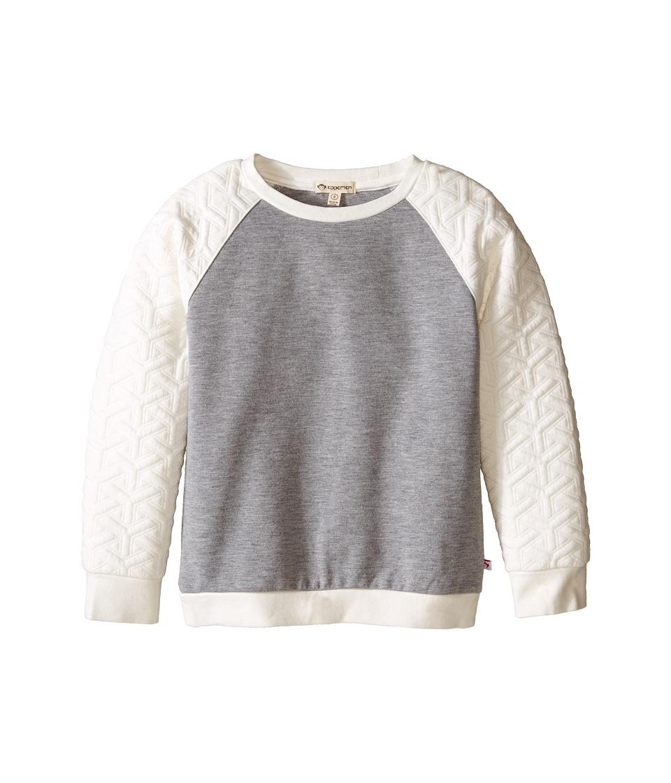 Appaman Kids - Ultra Soft Trophy Contrast Raglan Sweatshirt (Toddler/Little Kids/Big Kids) (Cloud Dancer) Girl's Sweatshirt