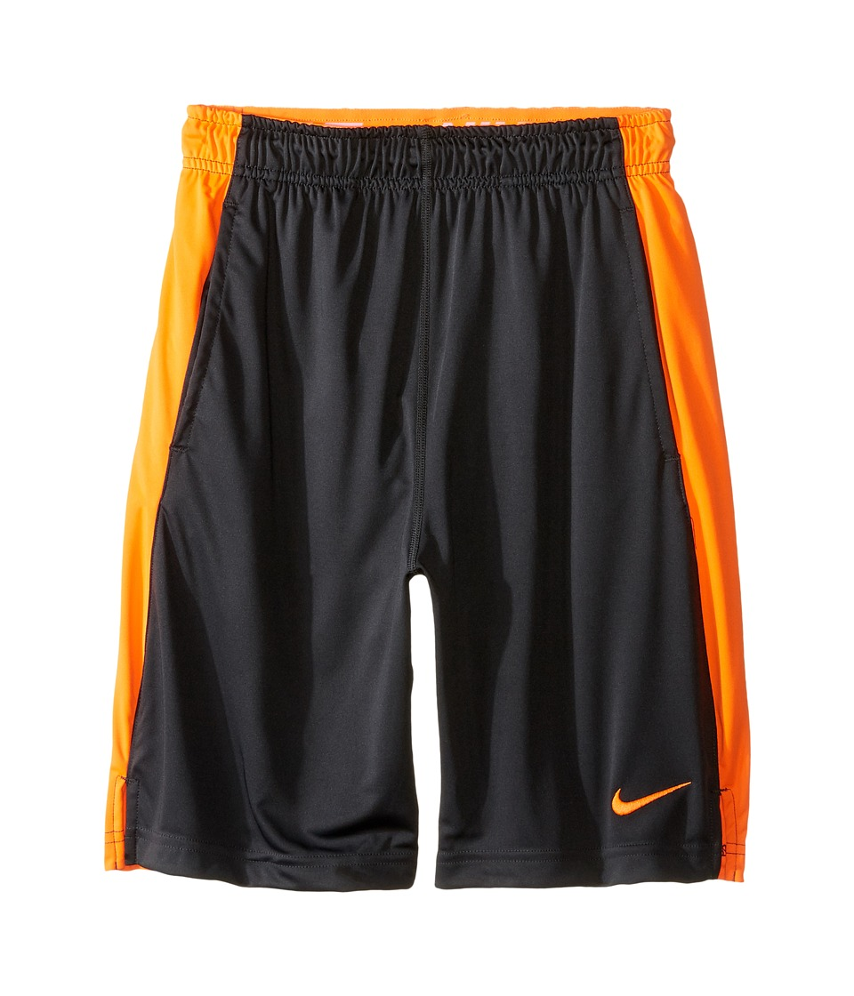 Nike Kids - Dry Fly Shorts (Little Kids/Big Kids) (Anthracite/Total Orange/Total Orange) Boy's Shorts