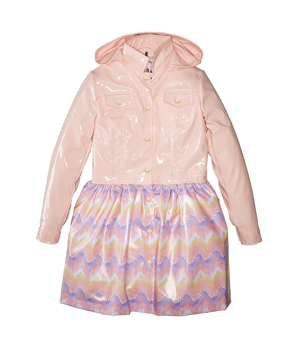 Oil & Water - Cloudburst Raincoat (Toddler/Little Kids/Big Kids) (Pink/Print) Girl's Coat