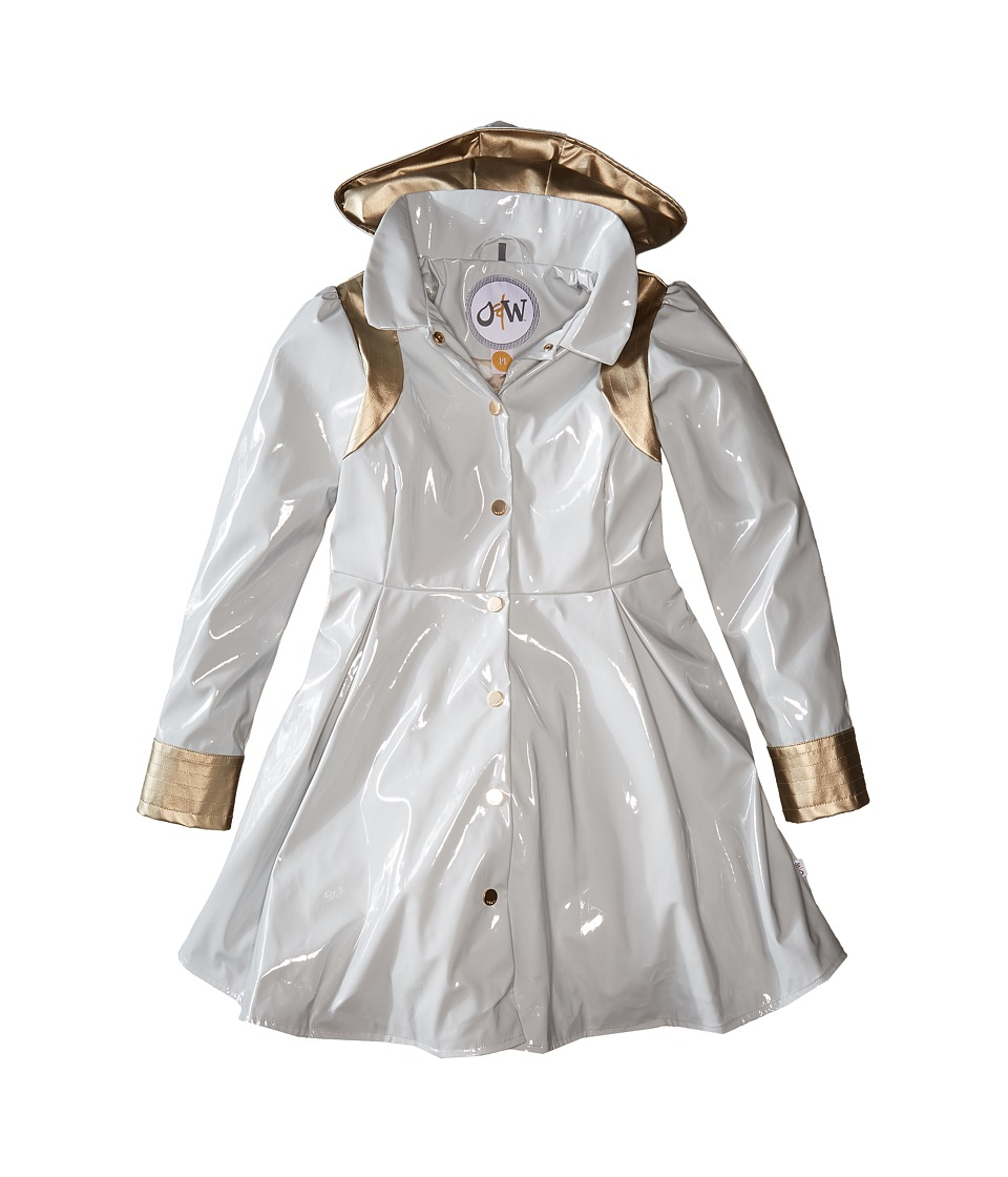 Oil & Water - Heavenly Raincoat (Toddler/Little Kids/Big Kids) (Grey/Plat) Girl's Coat