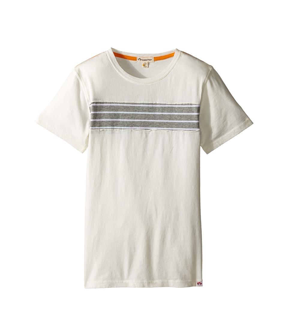 Appaman Kids - Super Soft Trench Tee with Stripe Detail (Toddler/Little Kids/Big Kids) (Cloud Dancer) Boy's T Shirt