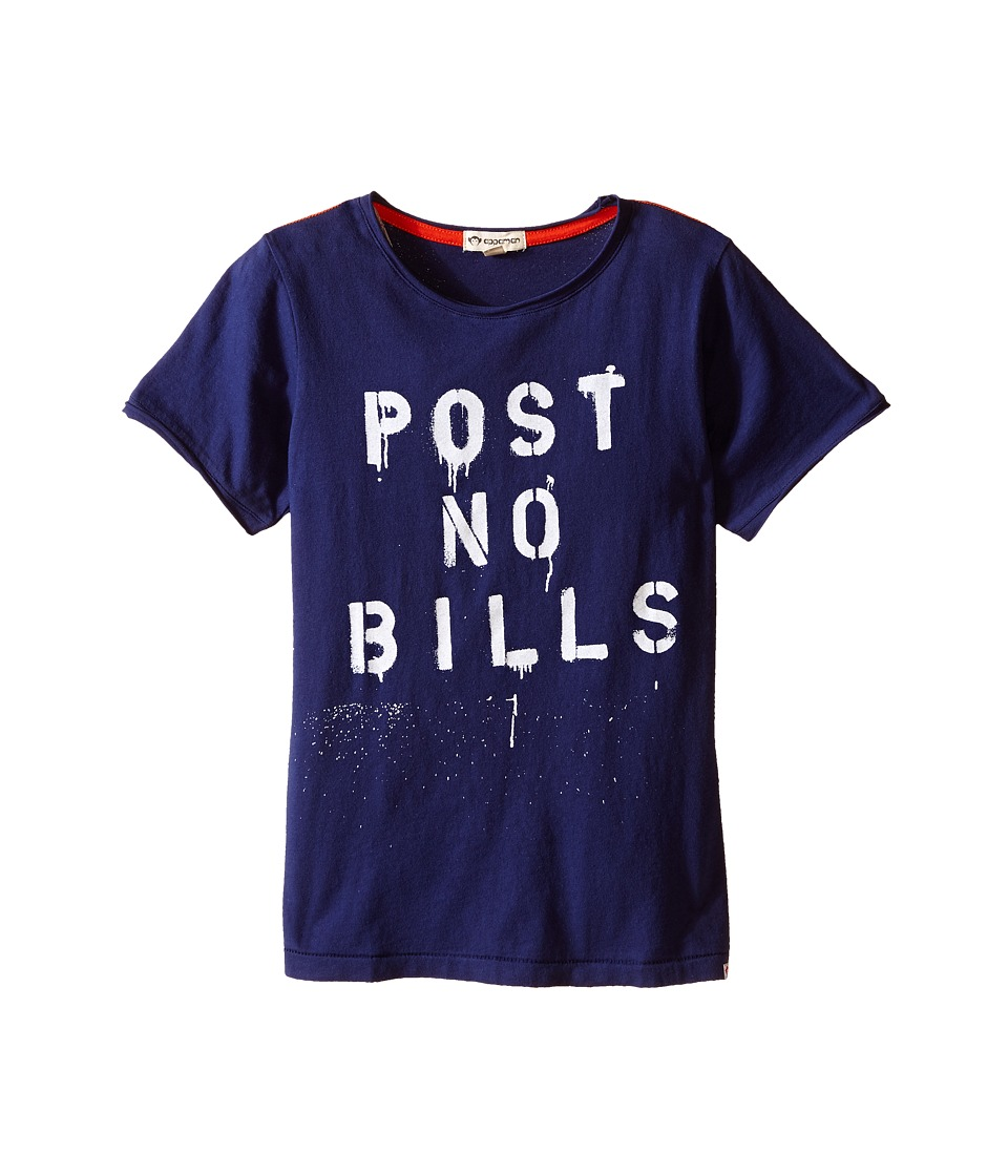 Appaman Kids - Super Soft Post No Bills Graphic Tee (Toddler/Little Kids/Big Kids) (Blue Depths) Boy's T Shirt