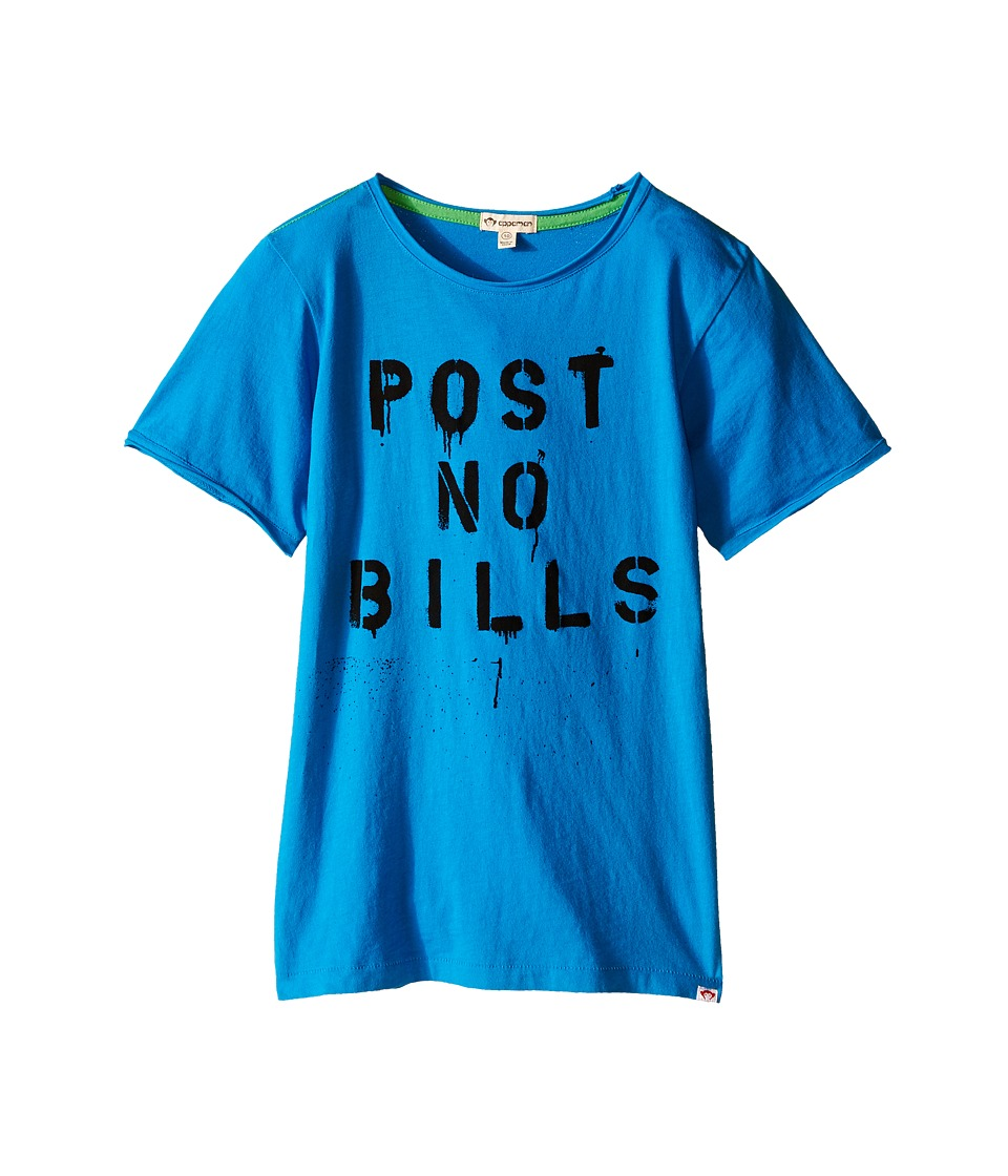 Appaman Kids - Super Soft Post No Bills Graphic Tee (Toddler/Little Kids/Big Kids) (Methyl Blue) Boy's T Shirt