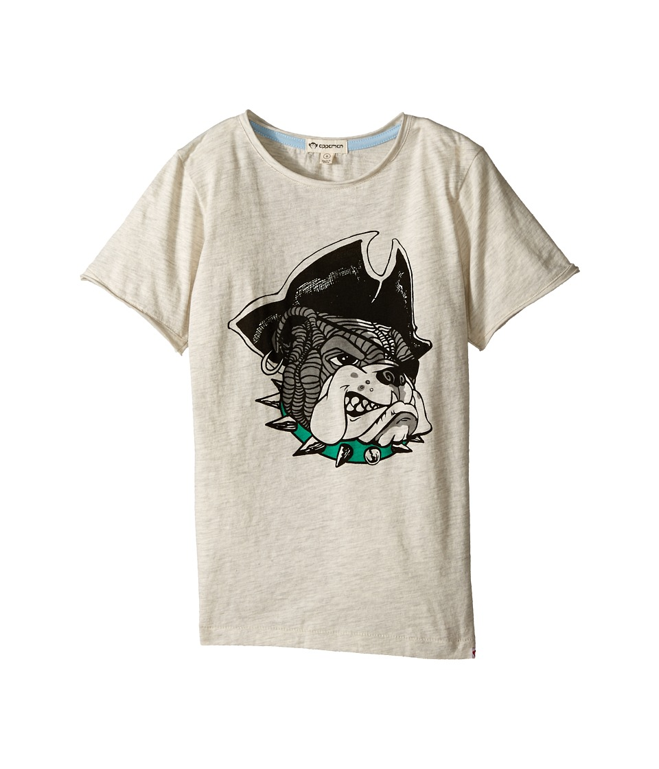 Appaman Kids - Super Soft Pirate Bully Graphic Tee (Toddler/Little Kids/Big Kids) (Cloud Heather) Boy's T Shirt