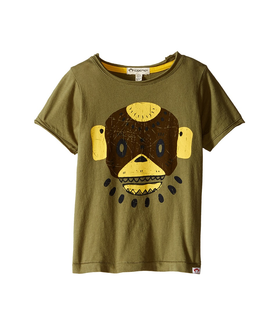 Appaman Kids - Super Soft Swamp Mask Graphic Tee (Toddler/Little Kids/Big Kids) (Light Grey Heather) Boy's T Shirt