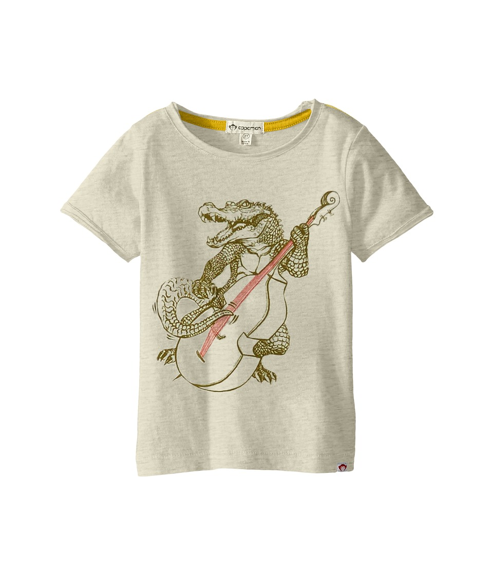 Appaman Kids - Super Soft Gator Rock Graphic Tee (Toddler/Little Kids/Big Kids) (Cloud Heather) Boy's T Shirt