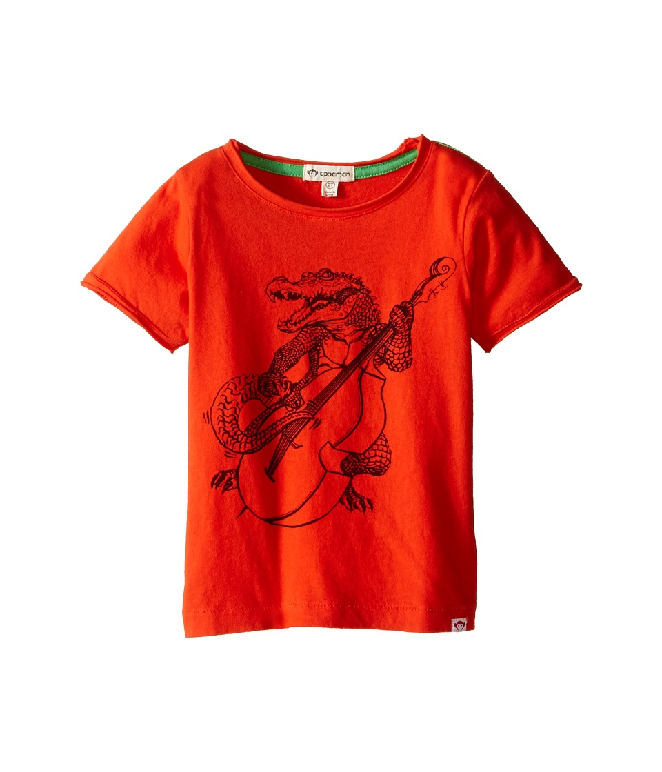 Appaman Kids - Super Soft Gator Rock Graphic Tee (Toddler/Little Kids/Big Kids) (Orange Soda) Boy's T Shirt