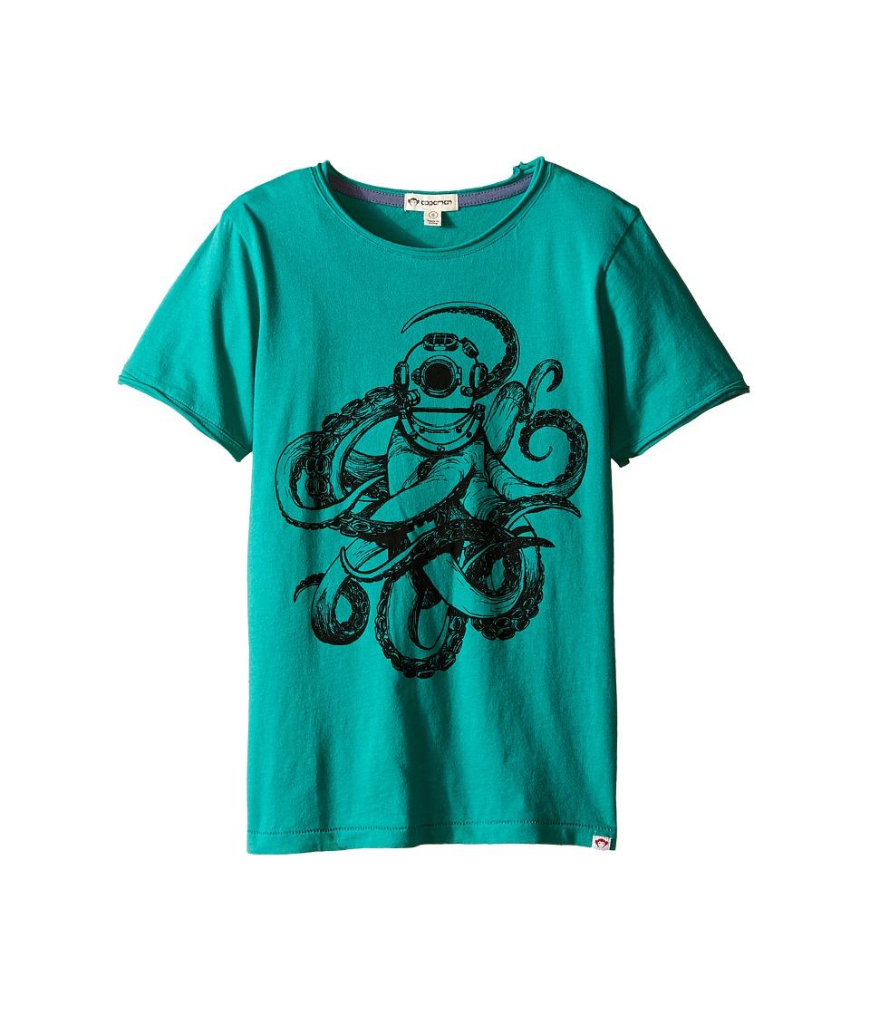 Appaman Kids - Super Soft Sea Monster Graphic Tee (Toddler/Little Kids/Big Kids) (Viridis) Boy's Short Sleeve Pullover