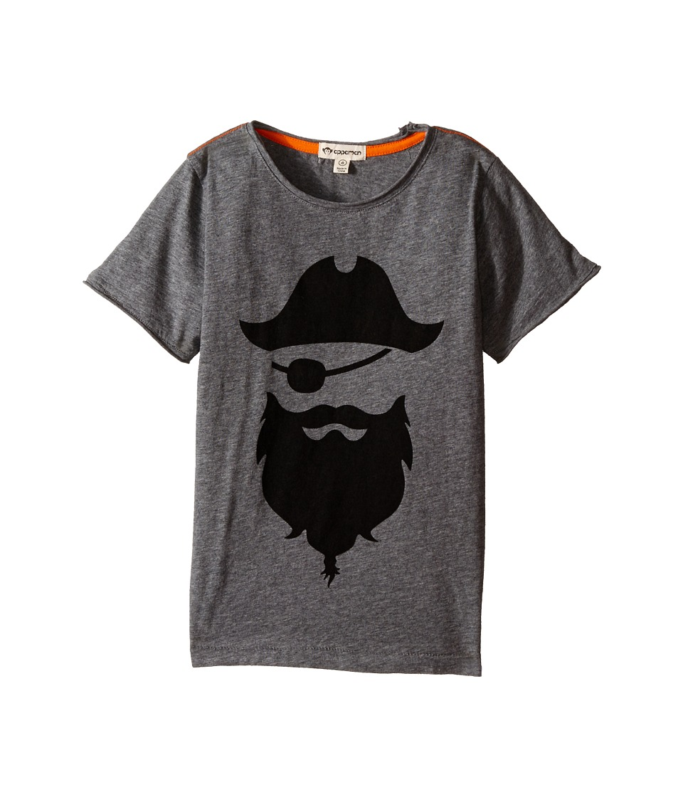 Appaman Kids - Super Soft Blackbeard Pirate Graphic Tee (Toddler/Little Kids/Big Kids) (Light Grey Heather) Boy's T Shirt