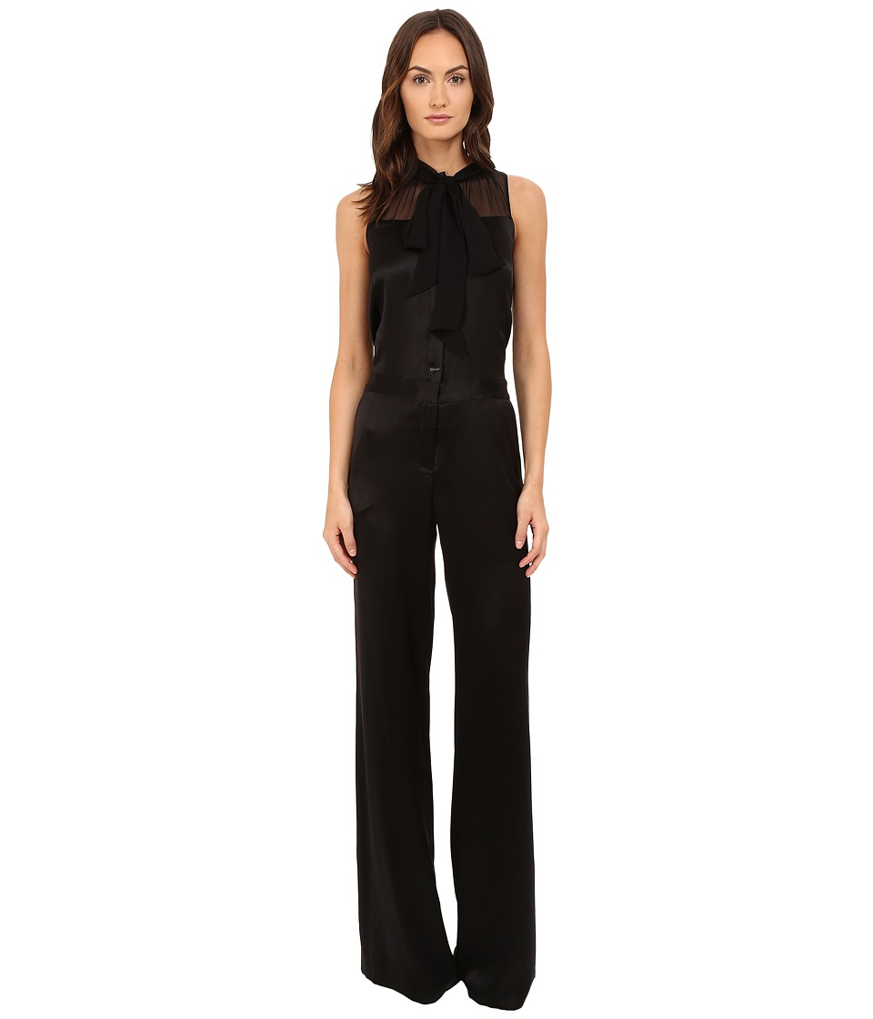 Prabal Gurung - Tie Neck Jumpsuit (Black) Women's Jumpsuit & Rompers One Piece