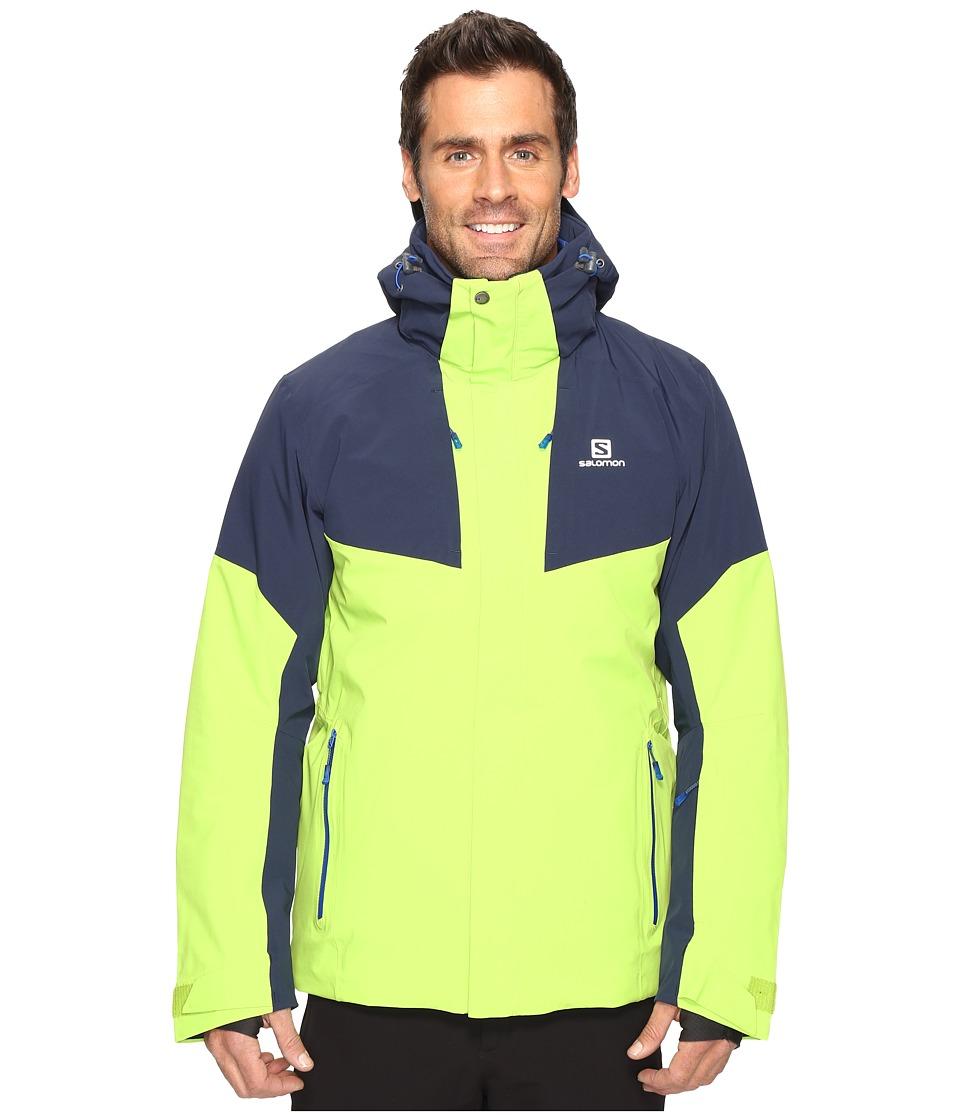Salomon Icerocket Jacket (Granny Green/Big Blue/X) Men