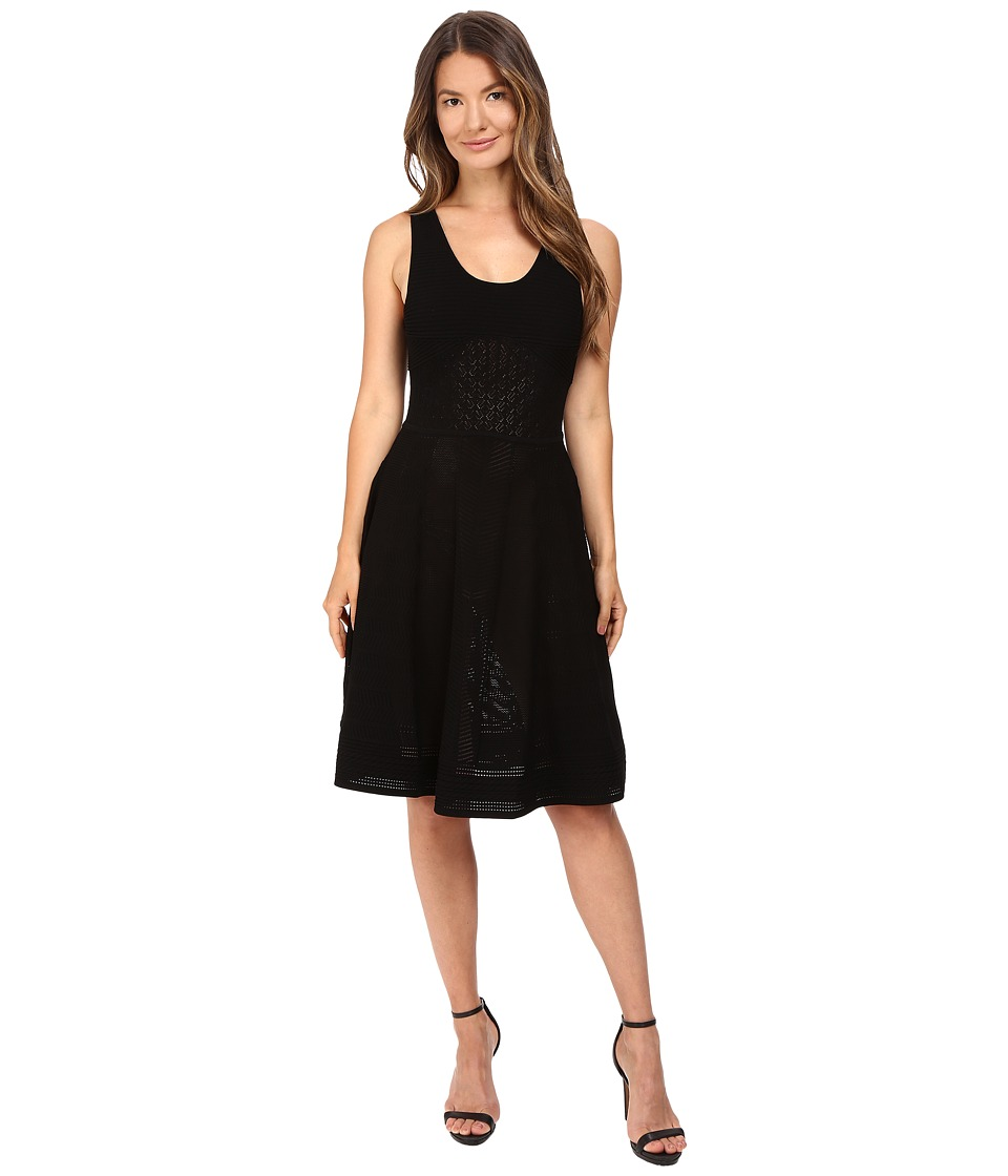 Prabal Gurung - Sleeveless Knit Flared Skirt Dress (Black) Women's Dress