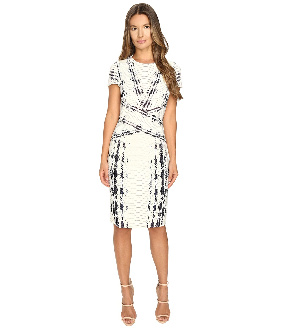 Prabal Gurung Short Sleeve Printed Sheath Dress