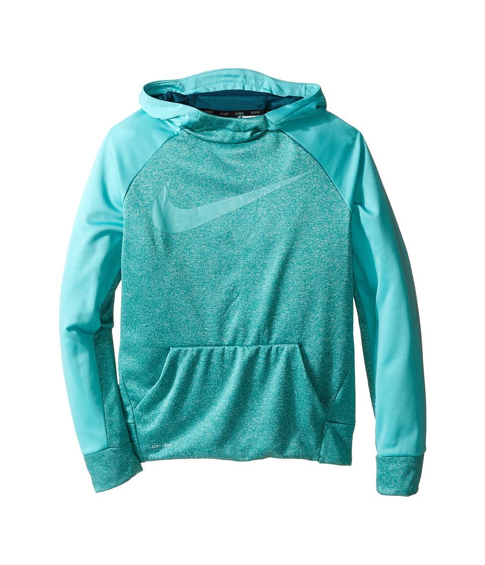 Nike Kids - Therma Hoodie (Little Kids/Big Kids) (Rio Teal Heather/Washed Teal) Boy's Sweatshirt