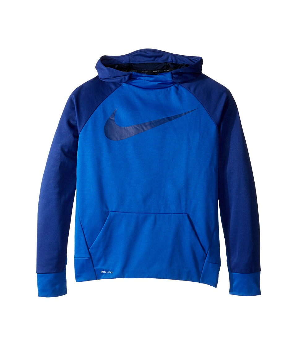 Nike Kids - Therma Hoodie (Little Kids/Big Kids) (Game Royal/Deep Royal Blue) Boy's Sweatshirt