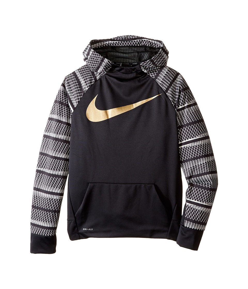Nike Kids - Therma Hoodie AOP (Little Kids/Big Kids) (Black/Black) Boy's Sweatshirt