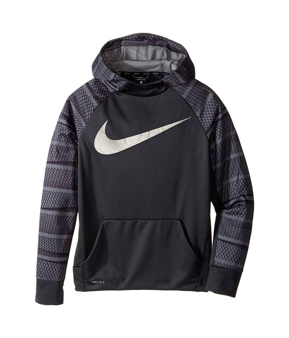 Nike Kids - Therma Hoodie AOP (Little Kids/Big Kids) (Anthracite/Dark Steel Grey) Boy's Sweatshirt