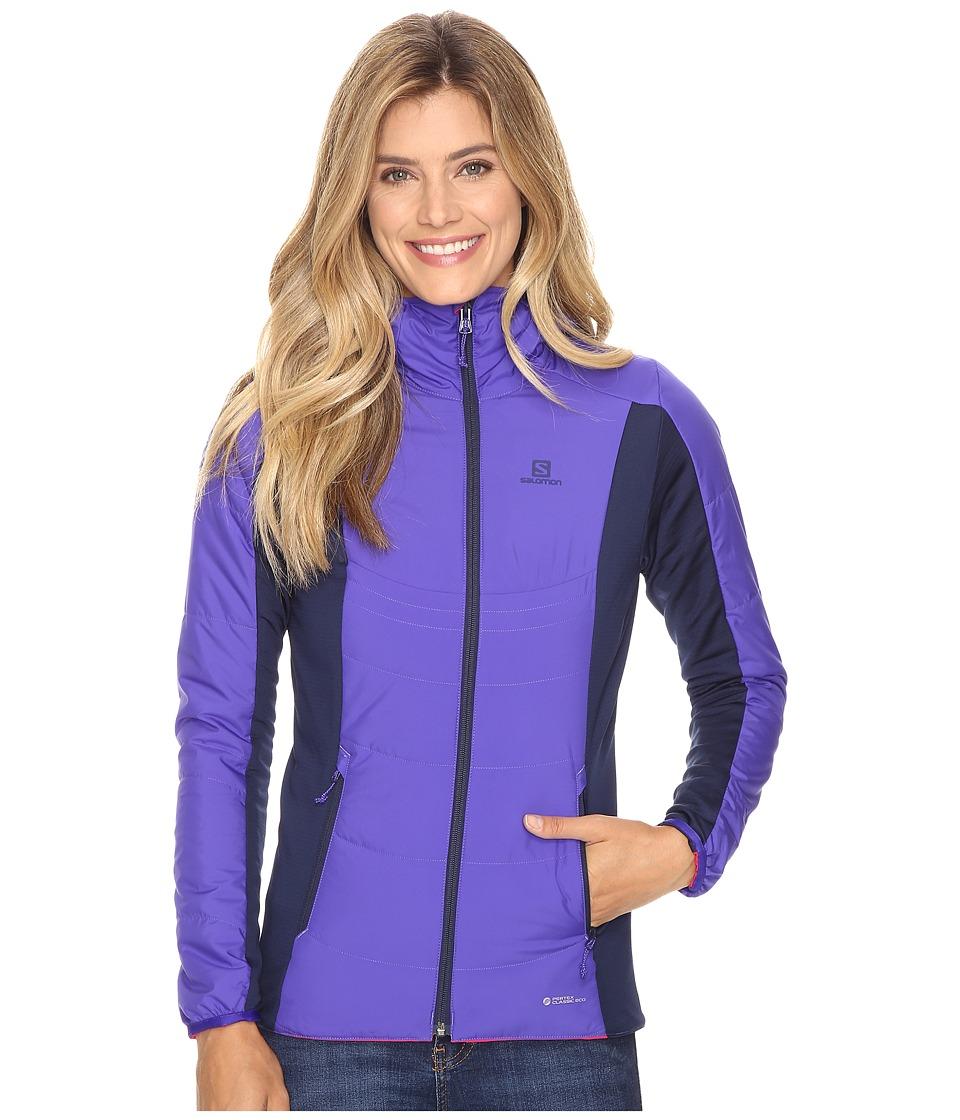 Salomon - Drifter Mid Hoodie (Phlox Violet/Gaura Pink) Women's Sweatshirt