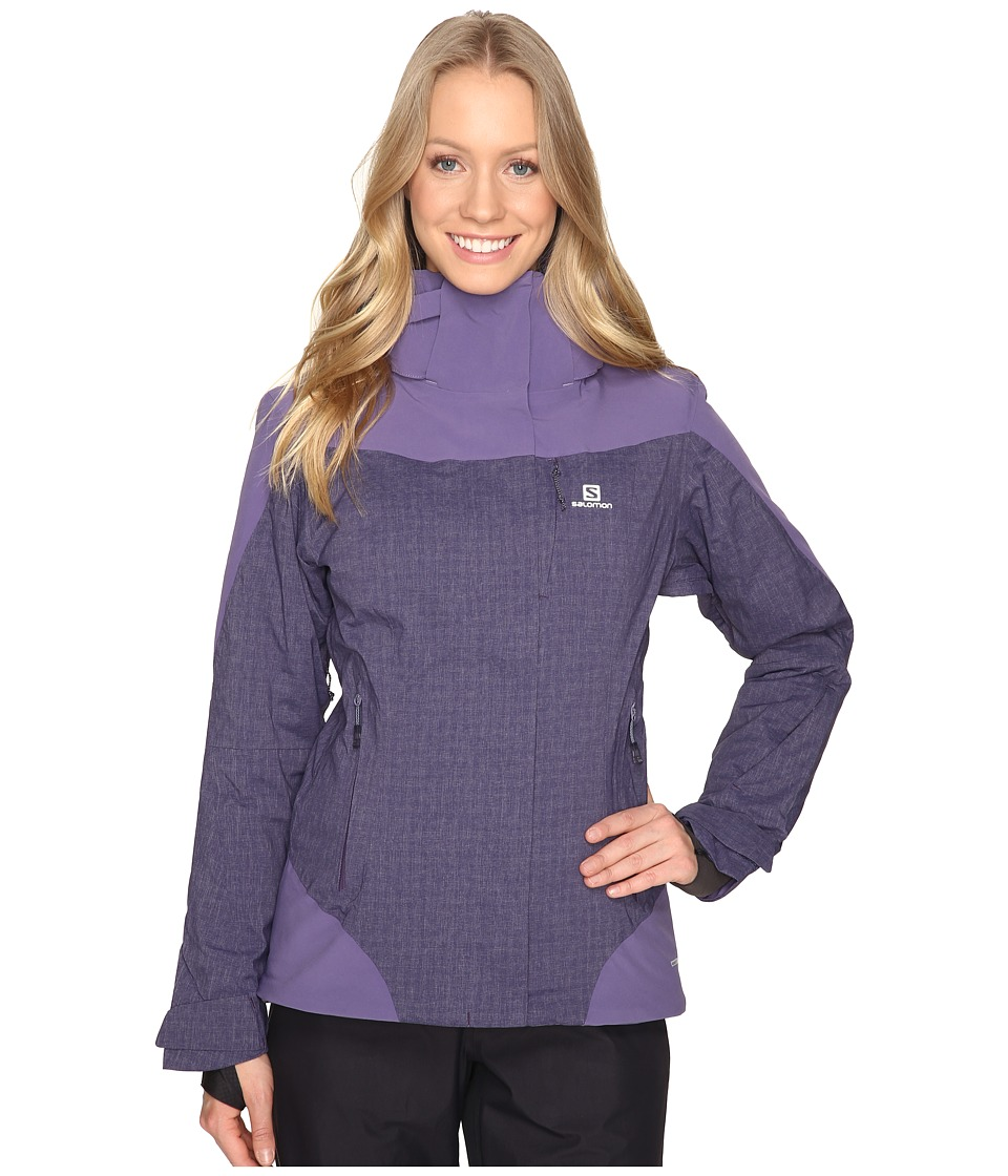 Salomon Icerocket Mix Jacket (Nightshade Grey/Daybreak Grey) Women