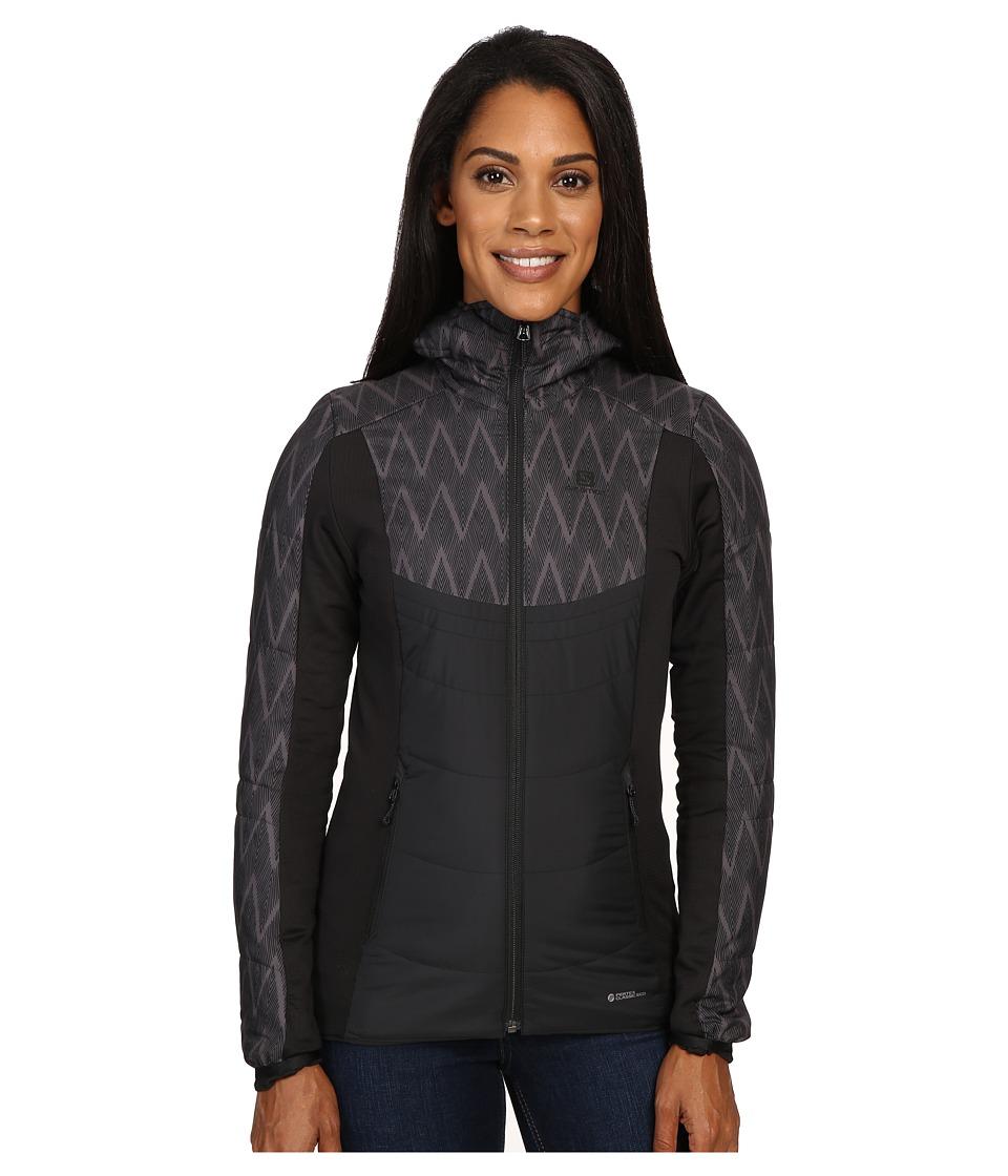 Salomon - Drifter Mid Hoodie (Black/Black) Women's Sweatshirt