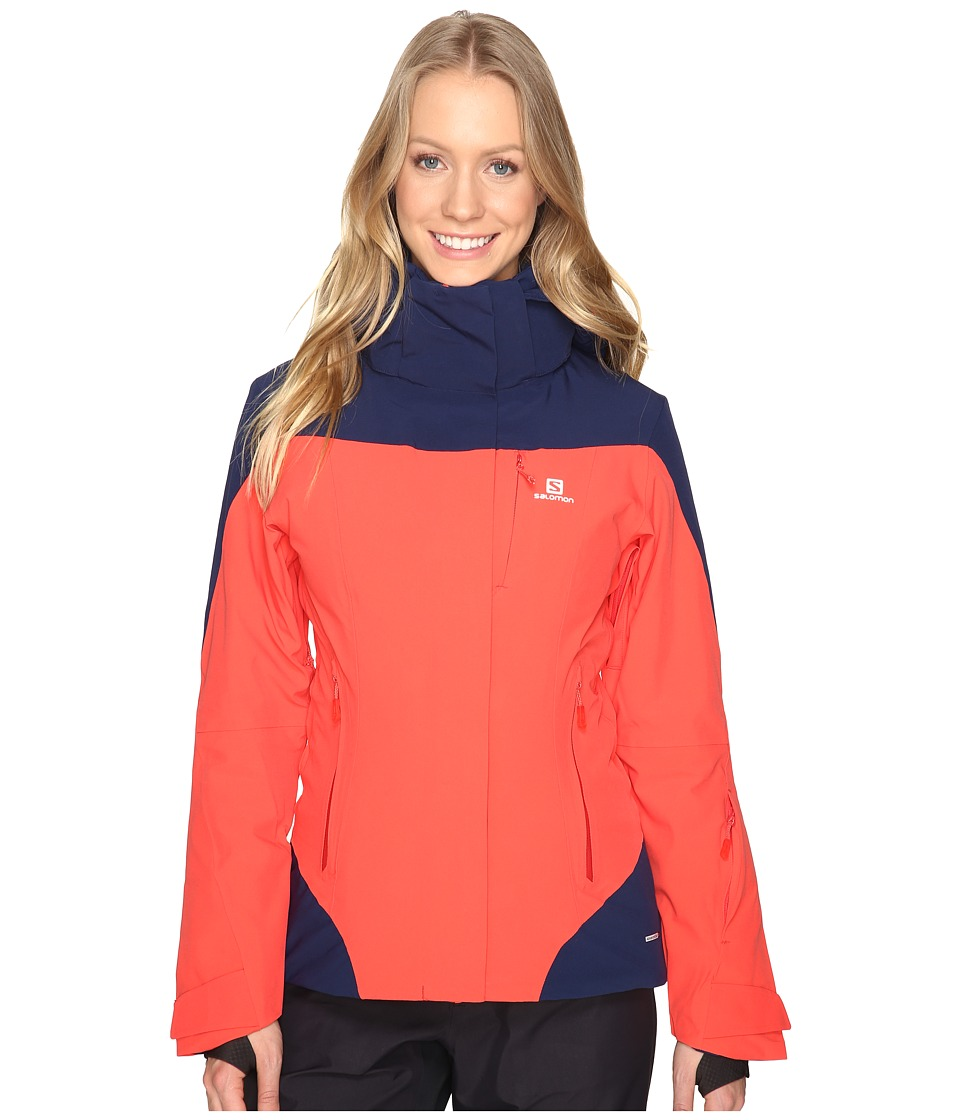 Salomon Icerocket Jacket (Infrared/Wisteria Navy) Women