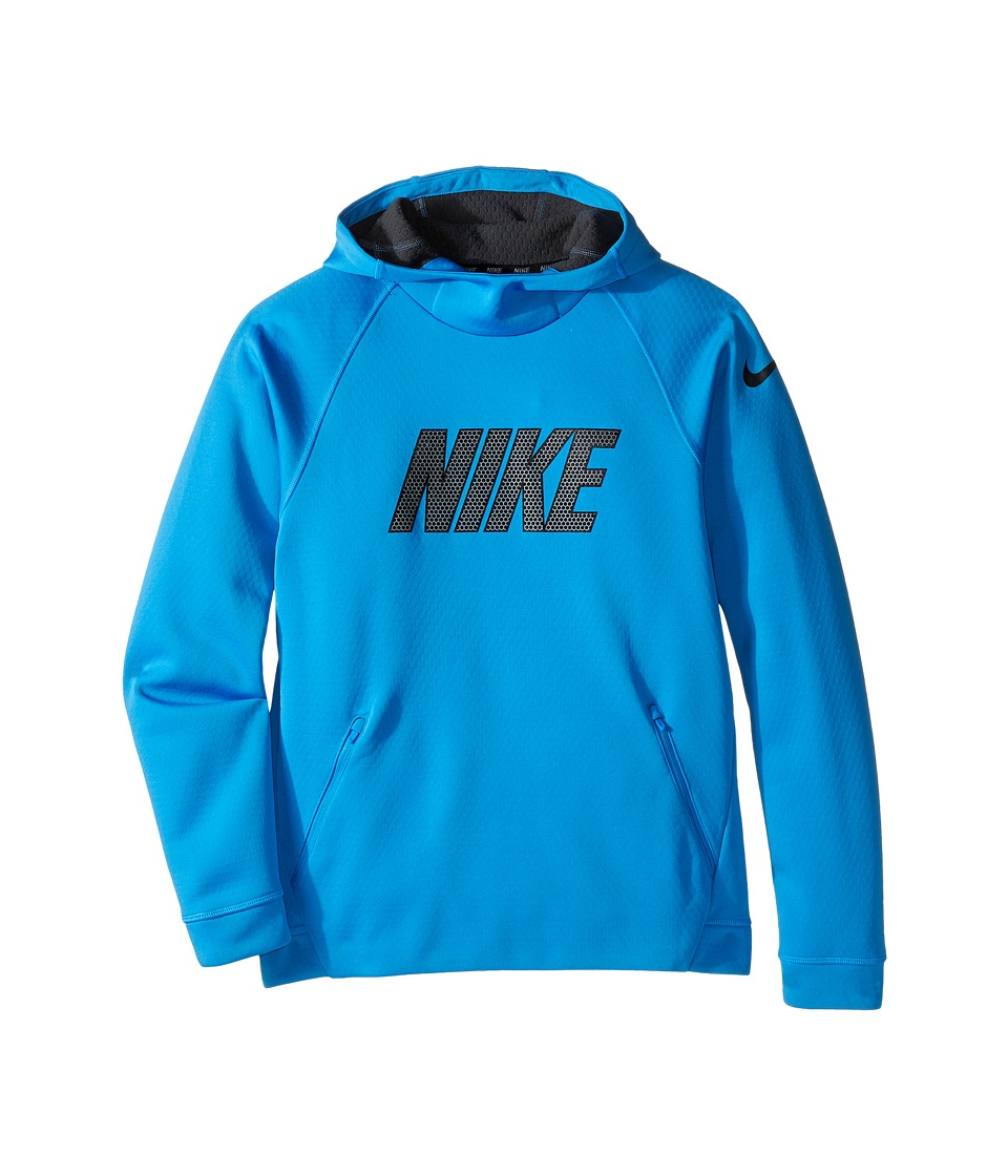Nike Kids - Therma Sphere Hoodie (Little Kids/Big Kids) (Light Photo Blue/Anthracite/Black) Boy's Sweatshirt