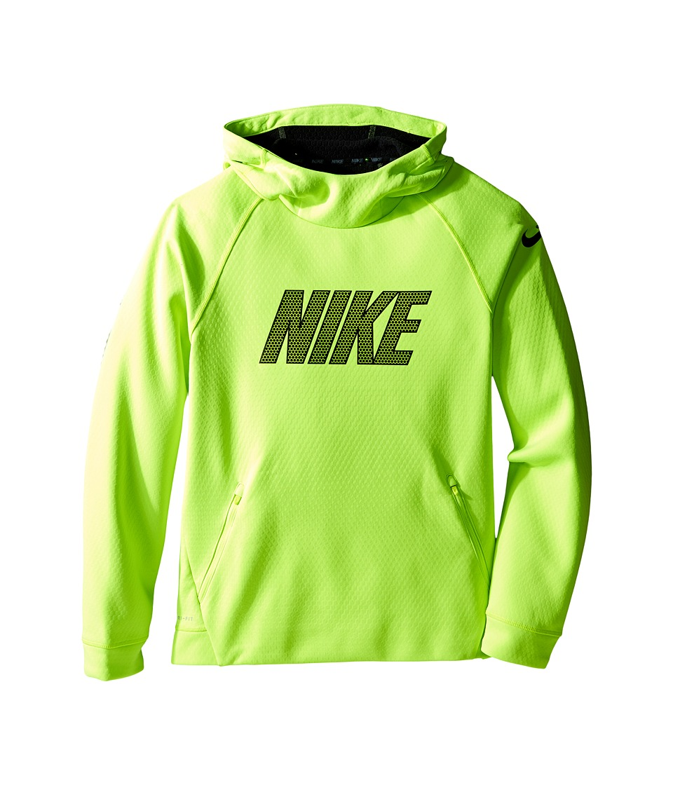 Nike Kids - Therma Sphere Hoodie (Little Kids/Big Kids) (Volt/Black/Black) Boy's Sweatshirt