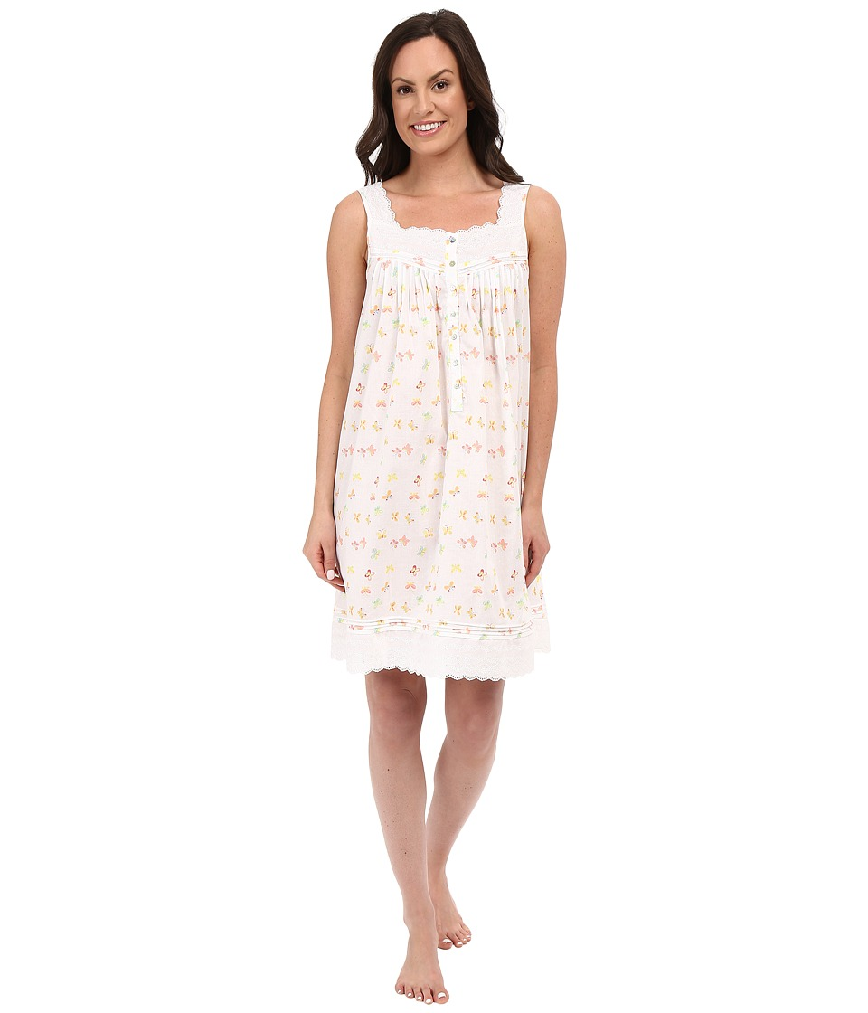 Eileen West - Short Chemise (White Ground Butterflies) Women's Pajama