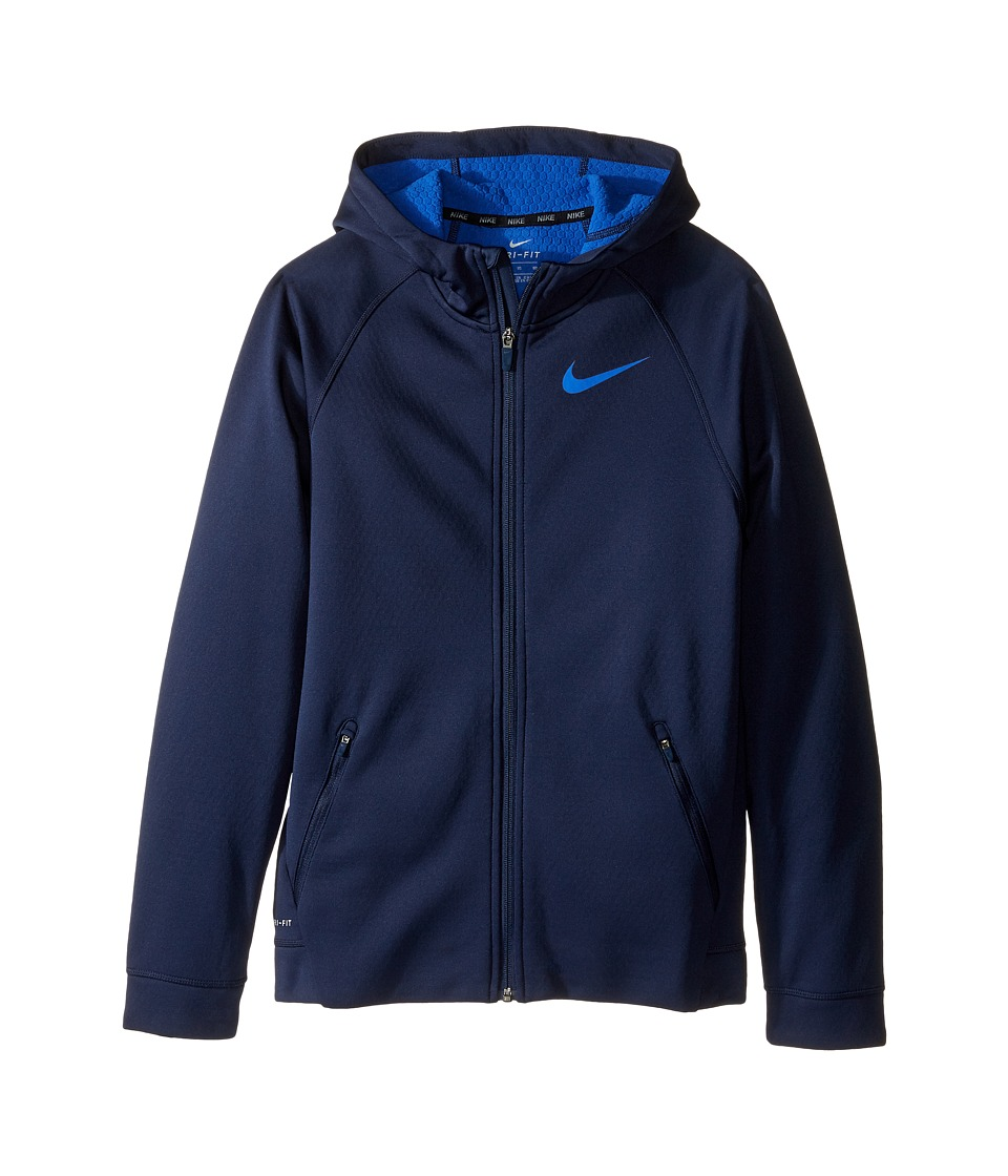 Nike Kids - Therma Sphere Jacket (Little Kids/Big Kids) (Obsidian/Game Royal/Game Royal) Boy's Coat
