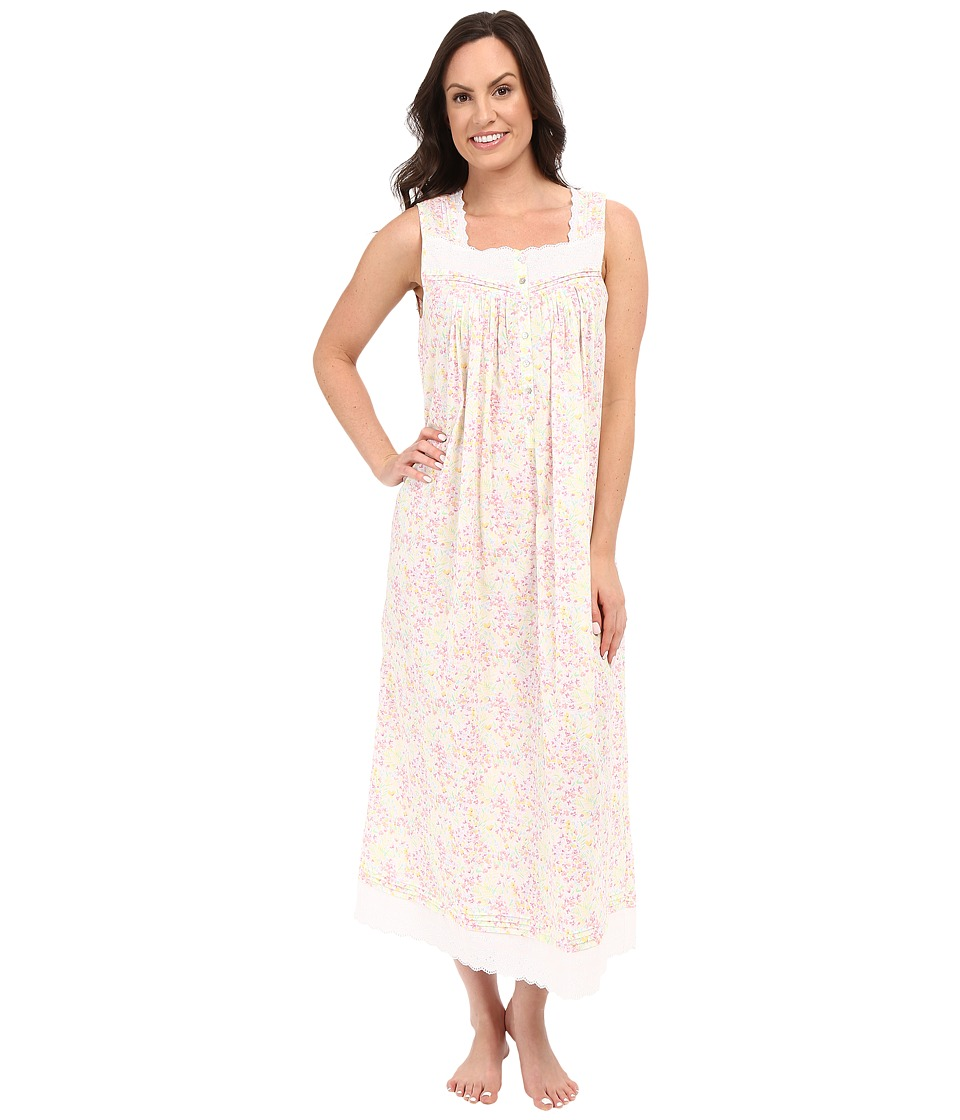 Eileen West - Ballet Nightgown (White Ground Garden Print) Women's Pajama
