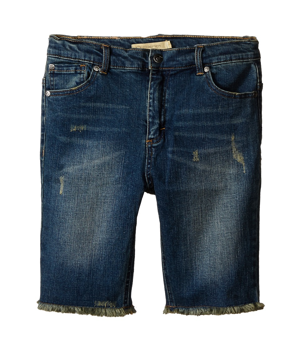 Appaman Kids - Vintage Soft Raw Edge Bermuda Denim Shorts (Toddler/Little Kids/Big Kids) (Vintage Wash) Boy's Shorts
