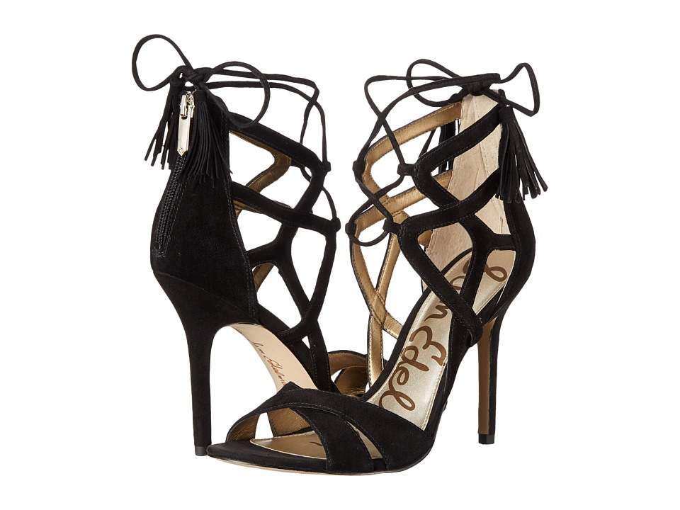 Sam Edelman - Azela (Black Kid Suede Leather) High Heels