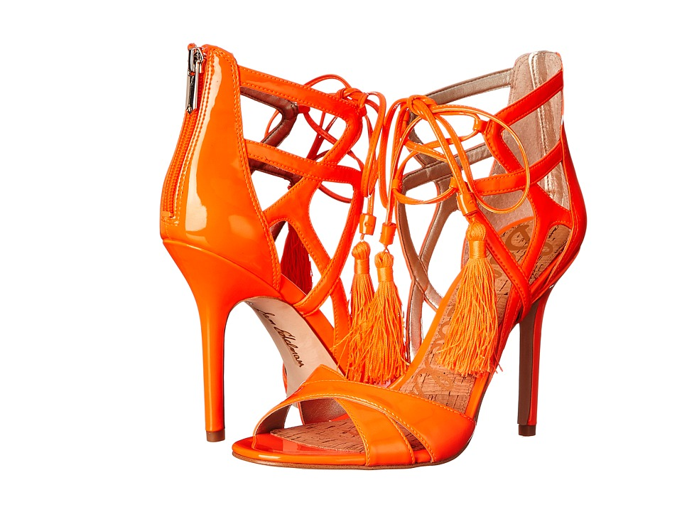 Sam Edelman Azela (Neon Orange Patent) High Heels
