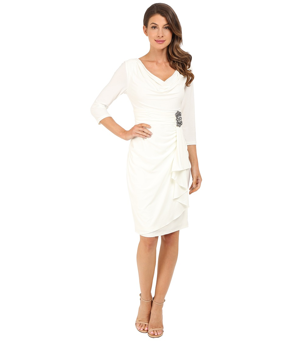 rsvp - Victoria Embellished Long Sleeve Dress (Ivory) Women's Dress