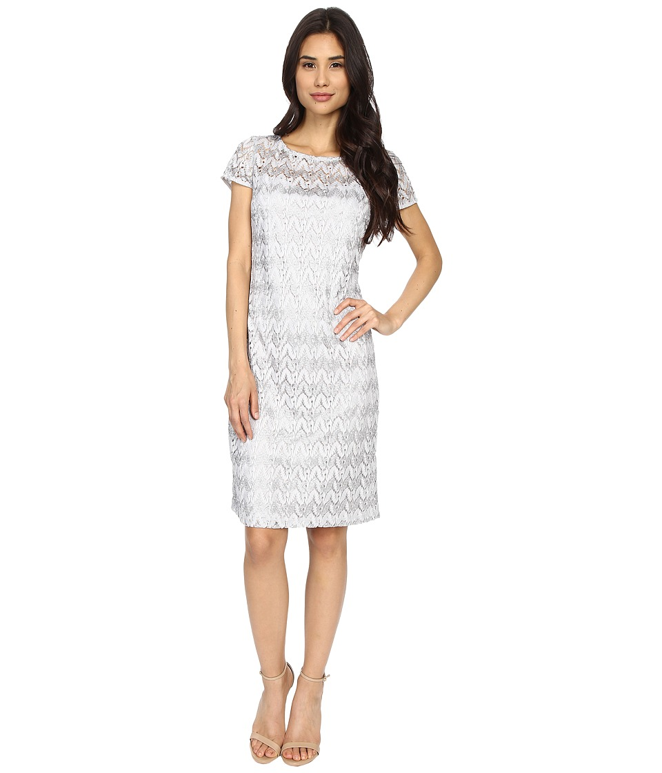 rsvp - Flame Stitch T-Shirt Dress (Silver) Women's Dress