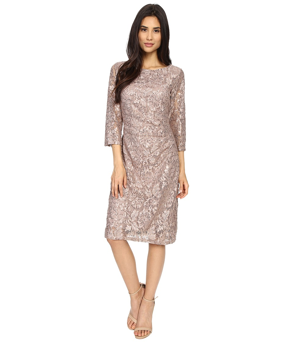 rsvp - Becca Lace Dress with Rouche Side (Champagne) Women's Dress