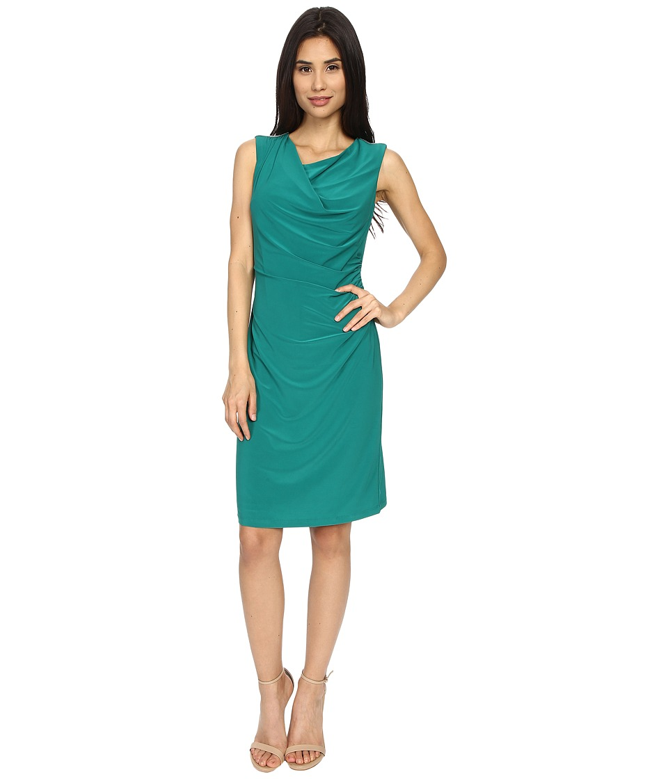 rsvp - Susan Rouched Side Dress (Green) Women's Dress