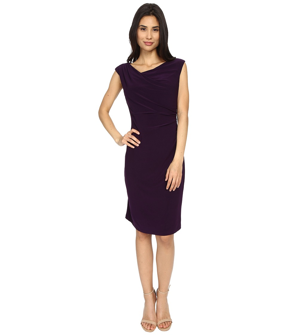 rsvp - Susan Rouched Side Dress (Eggplant) Women's Dress