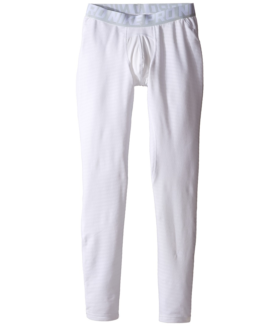 Nike Kids - Tights HBR (Little Kids/Big Kids) (White/Pure Platinum/Black) Boy's Casual Pants